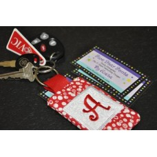 4x4 Quilted Monogram Pocket Keychain